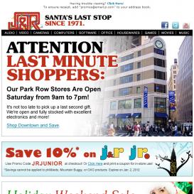 J&R Electronics vánoční kampaň