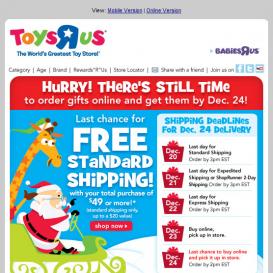 """Toys """"R"""" vánoční kampaň"""